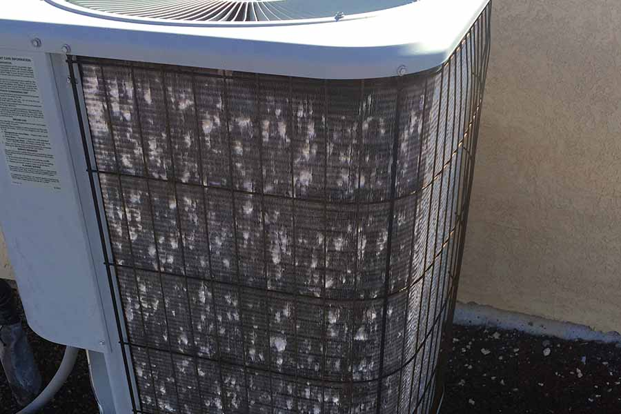 Air Conditioner Hail Damage